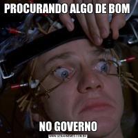 PROCURANDO ALGO DE BOM NO GOVERNO