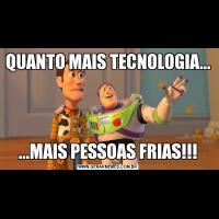 QUANTO MAIS TECNOLOGIA......MAIS PESSOAS FRIAS!!!