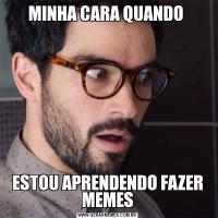 MINHA CARA QUANDO ESTOU APRENDENDO FAZER MEMES