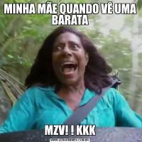 MINHA MÃE QUANDO VÊ UMA BARATAMZV! ! KKK