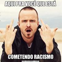 AQUI PRA VOCÊ QUE ESTÁCOMETENDO RACISMO