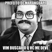 PREFEITO DE MARANGUAPEVIM BUSCAR O Q VC ME DEVE