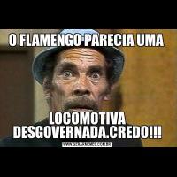 O FLAMENGO PARECIA UMA LOCOMOTIVA DESGOVERNADA.CREDO!!!