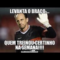 LEVANTA O BRAÇO....QUEM TREINOU CERTINHO NA SEMANA!!!!