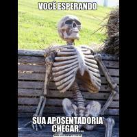 VOCÊ ESPERANDOSUA APOSENTADORIA CHEGAR...