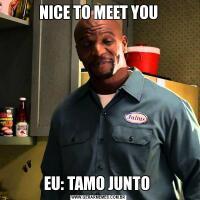 NICE TO MEET YOUEU: TAMO JUNTO