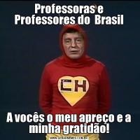 Professoras e Professores do  BrasilA vocês o meu apreço e a minha gratidão!
