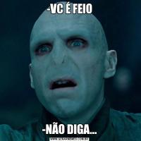 -VC É FEIO-NÃO DIGA...