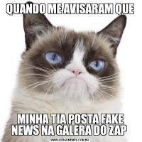 QUANDO ME AVISARAM QUEMINHA TIA POSTA FAKE NEWS NA GALERA DO ZAP