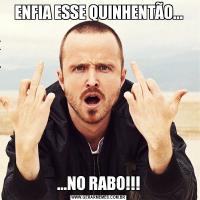 ENFIA ESSE QUINHENTÃO......NO RABO!!!