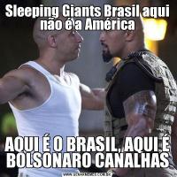 Sleeping Giants Brasil aqui não é a AméricaAQUI É O BRASIL, AQUI É BOLSONARO CANALHAS