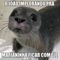 O JOÃO IMPLORANDO PRAMARIANINHA FICAR COM ELE