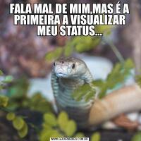 FALA MAL DE MIM,MAS É A PRIMEIRA A VISUALIZAR MEU STATUS...