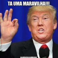 TA UMA MARAVILHA!!!