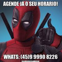 AGENDE JÁ O SEU HORARIO!WHATS: (45)9 9990 8226
