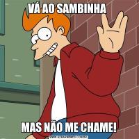 VÁ AO SAMBINHA MAS NÃO ME CHAME!