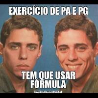 EXERCÍCIO DE PA E PGTEM QUE USAR FÓRMULA
