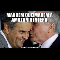 MANDEM QUEIMAREM A AMAZONIA INTERA