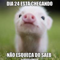 DIA 24 ESTÁ CHEGANDONÃO ESQUEÇA DO SAEB