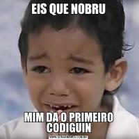 EIS QUE NOBRUMIM DA O PRIMEIRO CODIGUIN