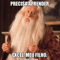 PRECISA APRENDEREXCEL, MEU FILHO.