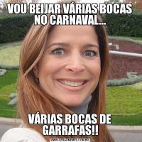 VOU BEIJAR VÁRIAS BOCAS NO CARNAVAL...VÁRIAS BOCAS DE GARRAFAS!!