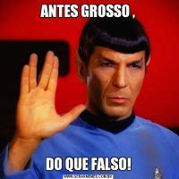 ANTES GROSSO ,DO QUE FALSO!