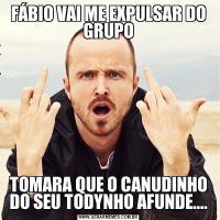FÁBIO VAI ME EXPULSAR DO GRUPOTOMARA QUE O CANUDINHO DO SEU TODYNHO AFUNDE....