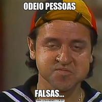 ODEIO PESSOAS FALSAS...