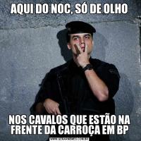 AQUI DO NOC, SÓ DE OLHONOS CAVALOS QUE ESTÃO NA FRENTE DA CARROÇA EM BP