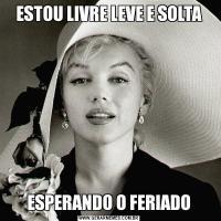 ESTOU LIVRE LEVE E SOLTAESPERANDO O FERIADO