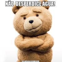 NÃO  DESPERDICE ÁGUA!