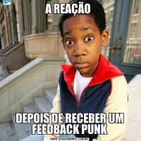 A REAÇÃO DEPOIS DE RECEBER UM FEEDBACK PUNK
