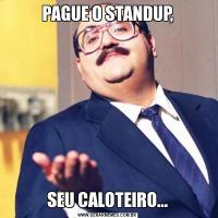 PAGUE O STANDUP,SEU CALOTEIRO...
