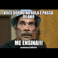 VOCÊ DORME NA AULA E PASSA DE ANOME ENSINA!!!