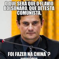 O QUE SERÁ QUE O FLAVIO BOLSONARO, QUE DETE$TA COMUNISTA,FOI FAZER NA CHINA  ?
