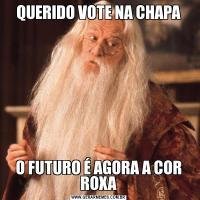 QUERIDO VOTE NA CHAPAO FUTURO É AGORA A COR ROXA