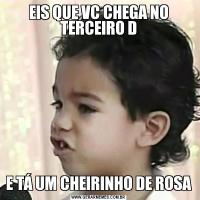 EIS QUE VC CHEGA NO TERCEIRO DE TÁ UM CHEIRINHO DE ROSA