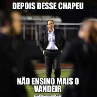 DEPOIS DESSE CHAPEUNÃO ENSINO MAIS O VANDEIR