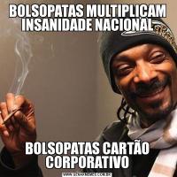 BOLSOPATAS MULTIPLICAM INSANIDADE NACIONALBOLSOPATAS CARTÃO CORPORATIVO