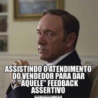 ASSISTINDO O ATENDIMENTO DO VENDEDOR PARA DAR