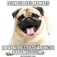FELIX DIA DAS MAMAESQ PAPAI DO CEO TE ABENCOE AAAAMEEEEEEM.,