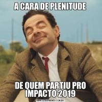 A CARA DE PLENITUDEDE QUEM PARTIU PRO IMPACTO 2019