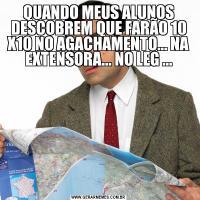 QUANDO MEUS ALUNOS DESCOBREM QUE FARÃO 10 X10 NO AGACHAMENTO... NA EXTENSORA... NO LEG ...