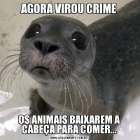 AGORA VIROU CRIMEOS ANIMAIS BAIXAREM A CABEÇA PARA COMER...