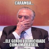 CARAMBA......ELE GEROU ELETRICIDADE COM UMA BATATA.