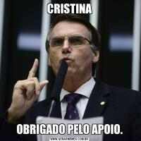CRISTINAOBRIGADO PELO APOIO.