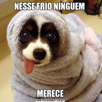 NESSE FRIO NINGUEM MERECE