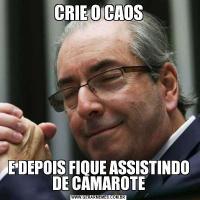 CRIE O CAOSE DEPOIS FIQUE ASSISTINDO DE CAMAROTE
