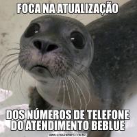 FOCA NA ATUALIZAÇÃODOS NÚMEROS DE TELEFONE DO ATENDIMENTO BEBLUE